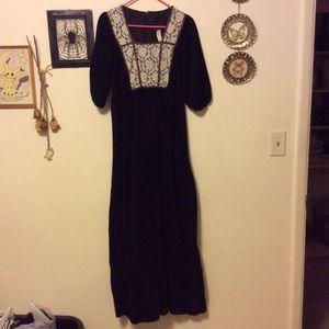 VTG maxi 70s prairie dress